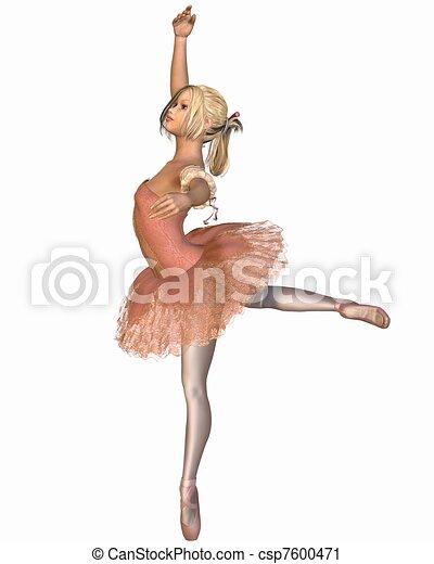 Ballet Performance - Attitude Pose - csp7600471