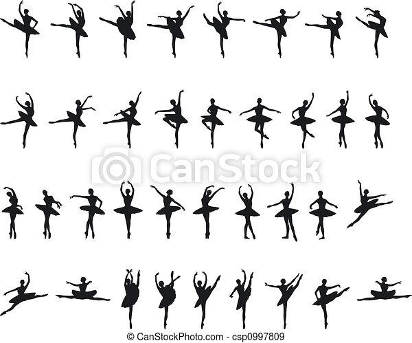 Ballet Silouettes - csp0997809