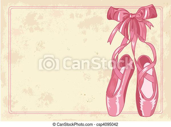 Ballet slippers background - csp4095042