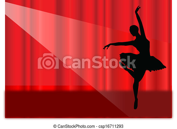 ballet stage - csp16711293