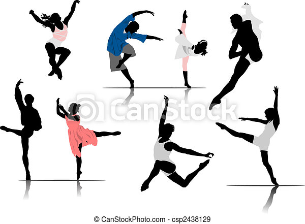ballet, vecteur, dancers., illustration, femme - csp2438129