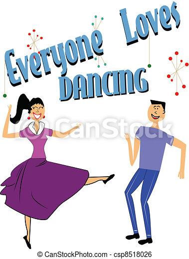 ballo, everyone, amori - csp8518026