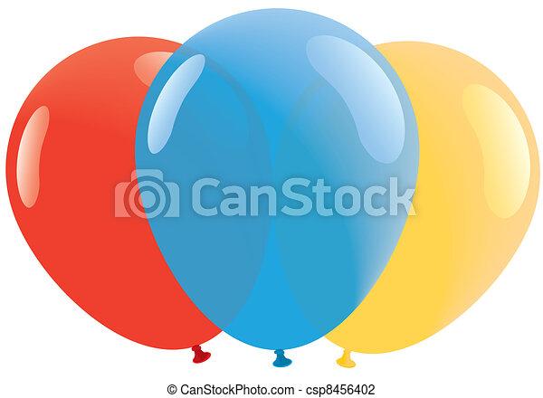 ballons, bllue, jaune, rouges - csp8456402