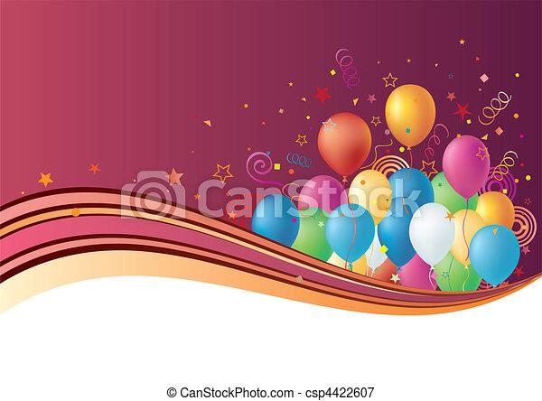 ballons, fond, célébration - csp4422607