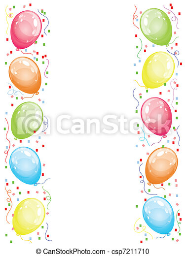 ballons, frontière - csp7211710