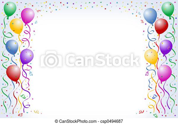 balloon, γενέθλια  - csp0494687
