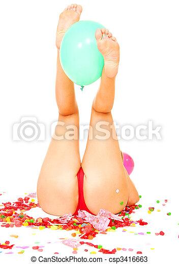 balloon, 보유, 다리 - csp3416663