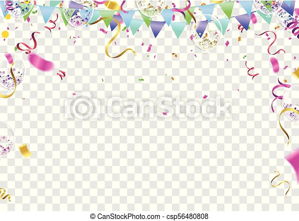 balloon banner template abstract colorful celebration background