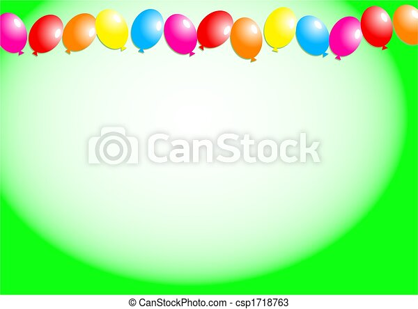 Balloon border decorative birthday party balloon page drawings balloon border csp1718763 thecheapjerseys Gallery