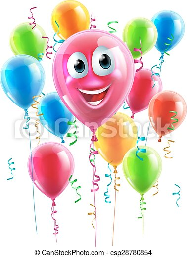 Balloon Cartoon Character - csp28780854