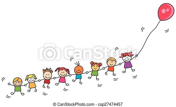 balloon, děti, hraní - csp27474457