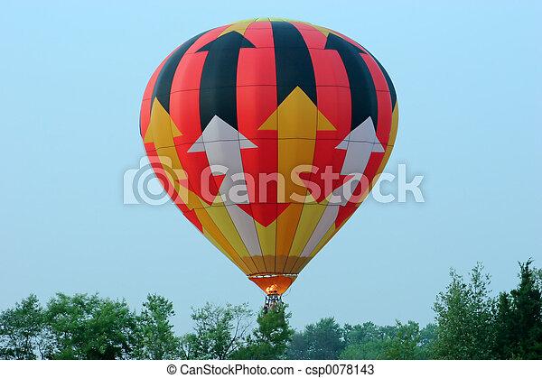 balloon, desligado, levando - csp0078143