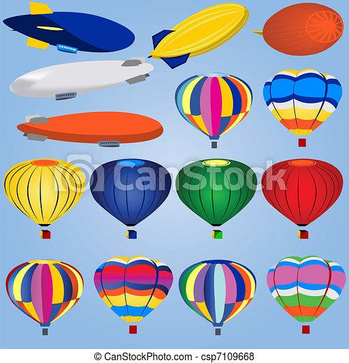 ballon dirigeable clipart
