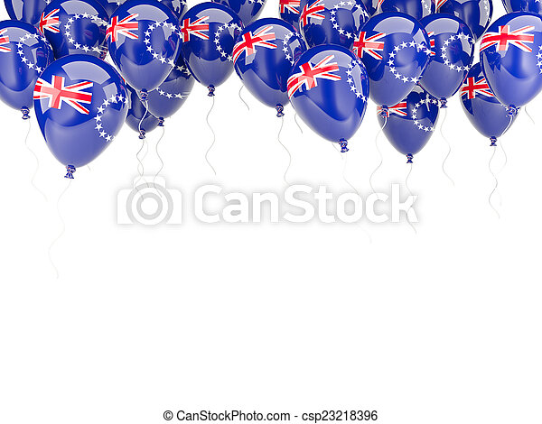 Balloon frame with flag of cook islands - csp23218396