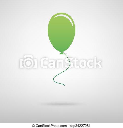 Balloon green icon - csp34227281