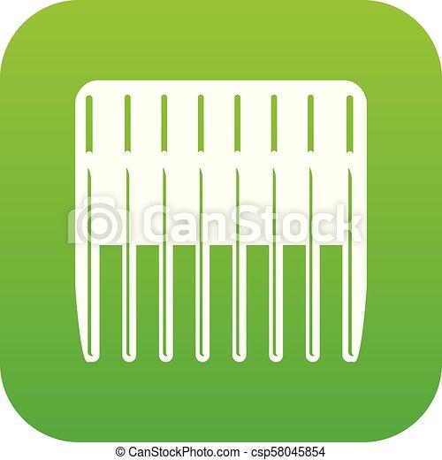 Balloon icon green vector - csp58045854