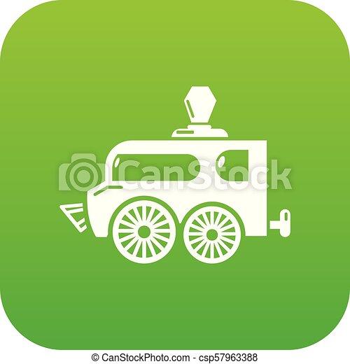 Balloon icon green vector - csp57963388
