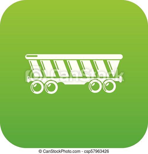 Balloon icon green vector - csp57963426