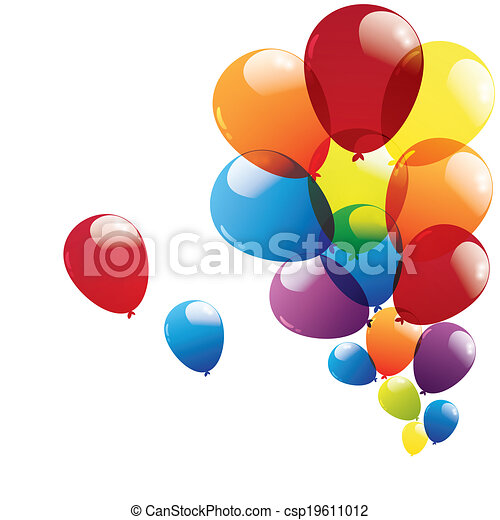 balloon isolated on white background - csp19611012