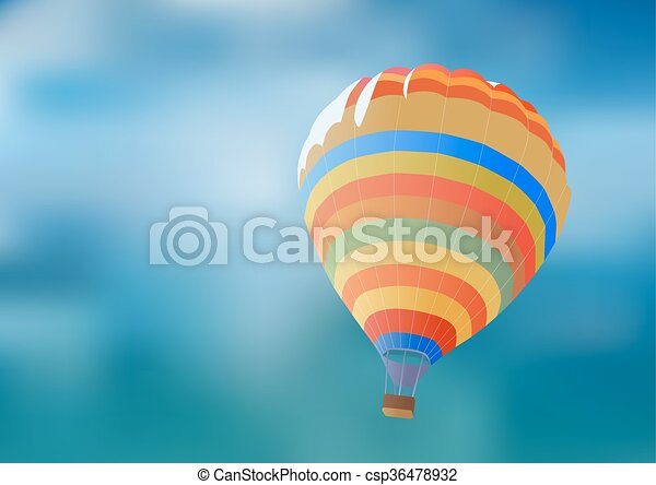 Balloon on a background blue sky. - csp36478932