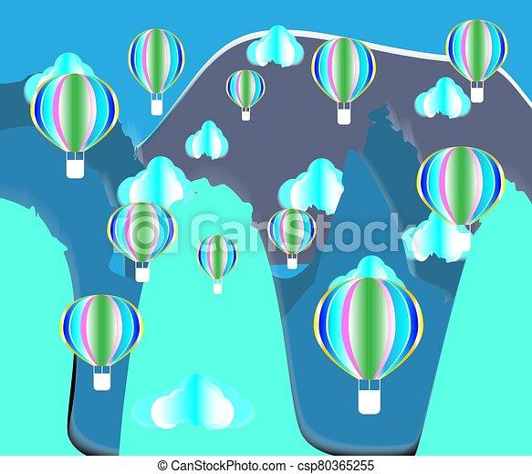 Balloon paper cut design - csp80365255