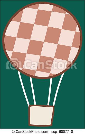 balloon, verhite-lucht - csp16007710