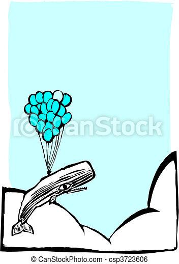 Ballooning Whale - csp3723606
