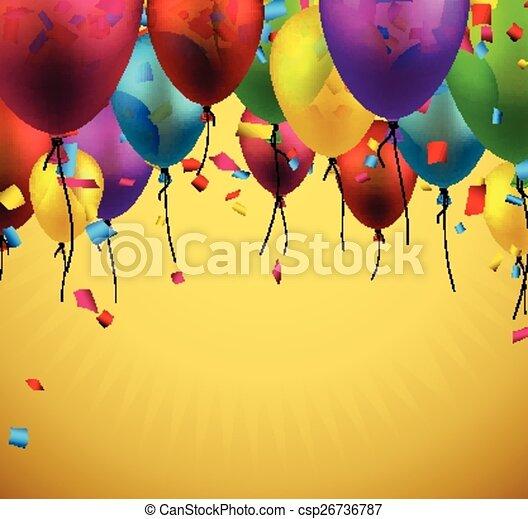 balloons., ünnepel, háttér - csp26736787