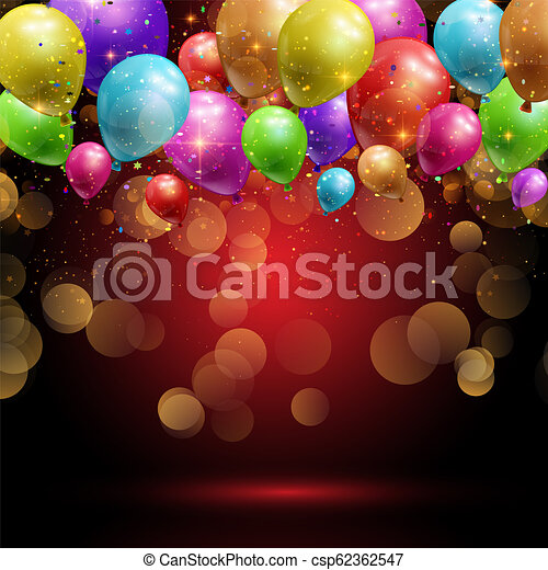 balloons and confetti background 1906 - csp62362547