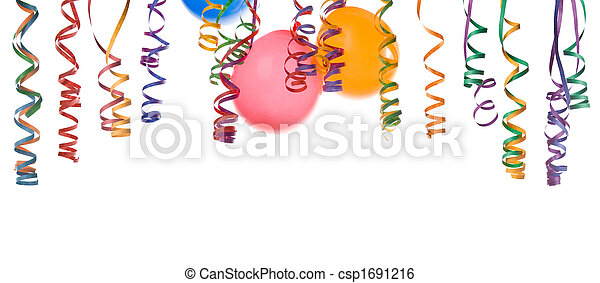 balloons and confetti - csp1691216