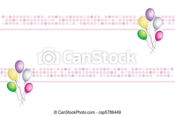 balloons banner - csp5786449