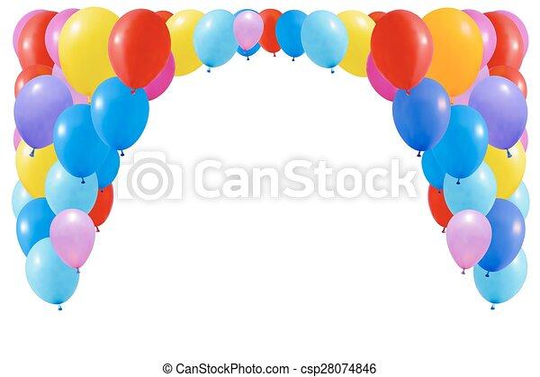 balloons., bianco, set, colorito, isolato - csp28074846
