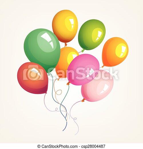Balloons birthday party decoration - csp28004487