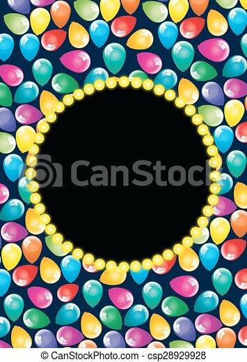 Balloons birthday party decoration - csp28929928