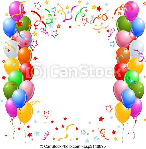 Balloons border - csp3148895