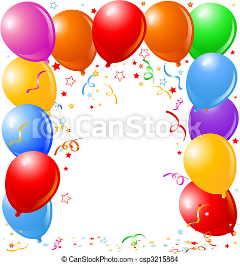 Balloons border - csp3215884