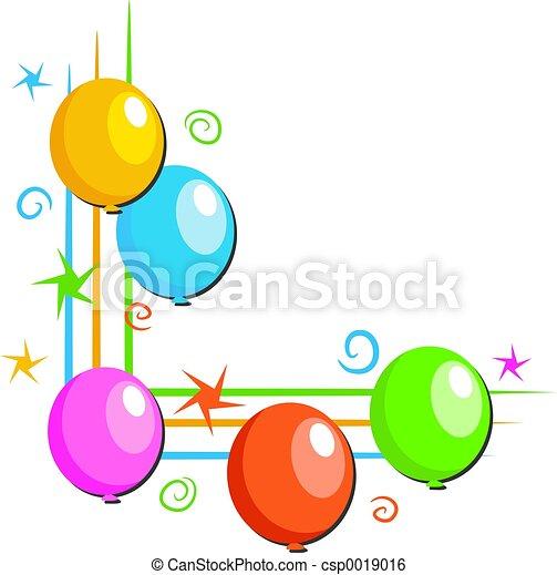 Balloons Border - csp0019016