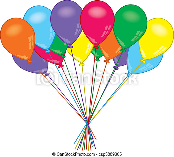 a bunch of colorful cheery party balloons clipart vector search rh canstockphoto com vector balloons illustrator vector balloon background