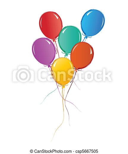 Balloons for birthday or celebration - csp5667505