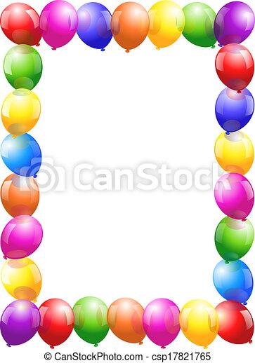 Balloons Frame - portrait format - csp17821765