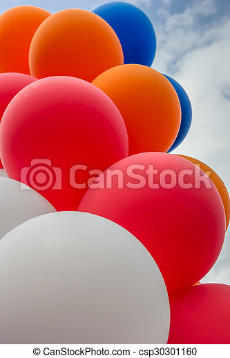 Balloons in the colors of the dutch flag - csp30301160