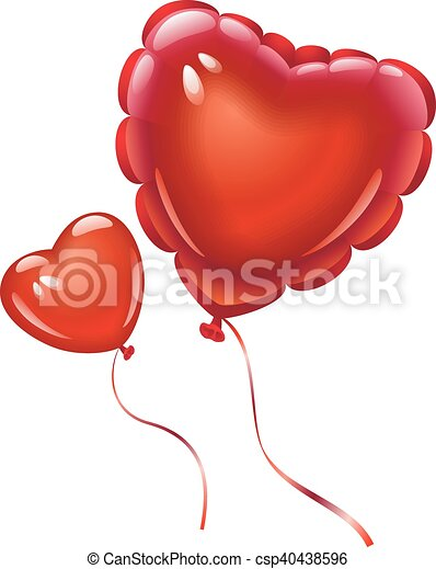 Balloons in the shape of heart - csp40438596
