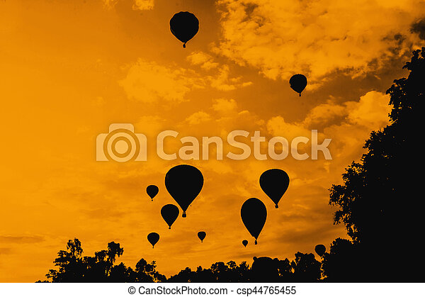 balloons in the sky at evening - csp44765455