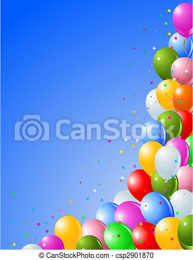Balloons on a Blue Background - csp2901870