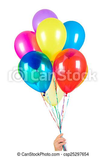 Balloons on a white background - csp25297654