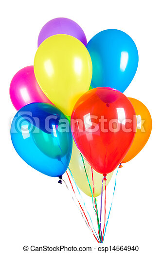 Balloons on a white background - csp14564940