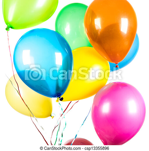 Balloons on a white background - csp13355896