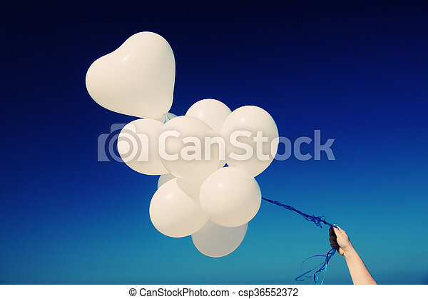 balloons on the background of blue sky - csp36552372