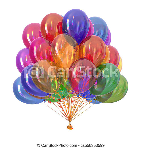 balloons party decoration multicolor - csp58353599