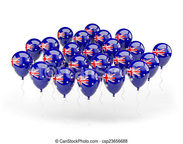 Balloons with flag of australia - csp23656688